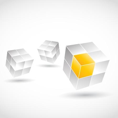 3D Cube Concept Stock Vector - 15600628
