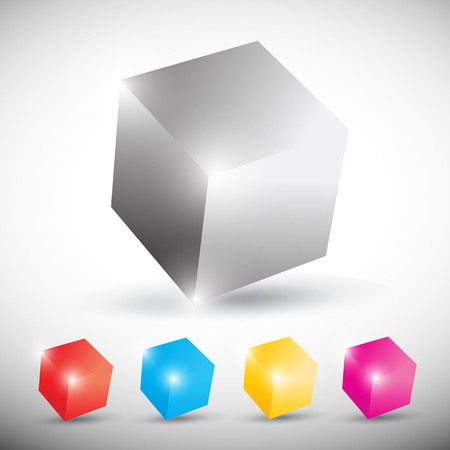 colorful shiny cubic background Vector