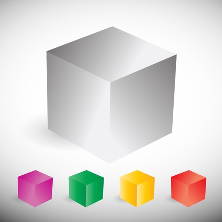 colorful cube set Stock Vector - 15600613