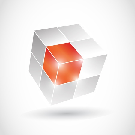 red cube: 3D Cube