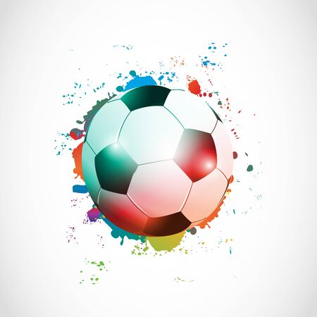 abstract football poster grunge Stock Photo - 15600569