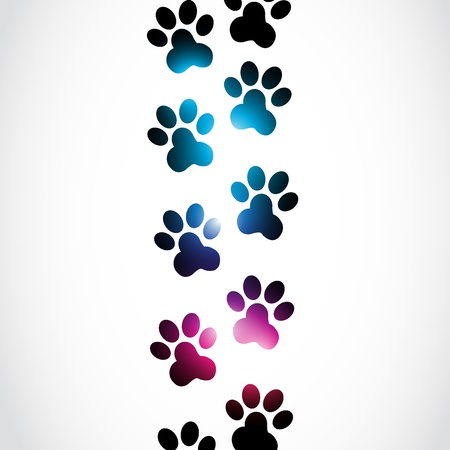 rainbow print: Abstract Paws Illustration