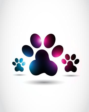 patas de perros: abstractos brillantes impresiones de la pata Vectores