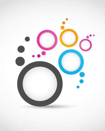 logo abstract circles Stock Vector - 15600599