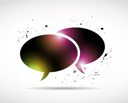 abstract bright colors speech bubble Stock Vector - 15600712