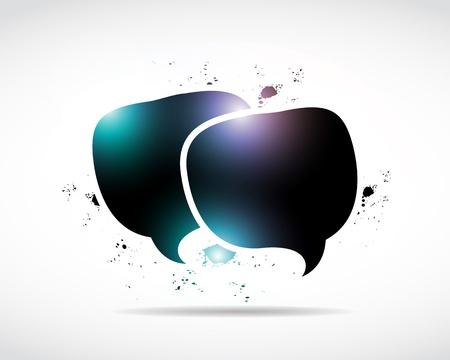buzzing: abstract shiny speech bubbles Illustration