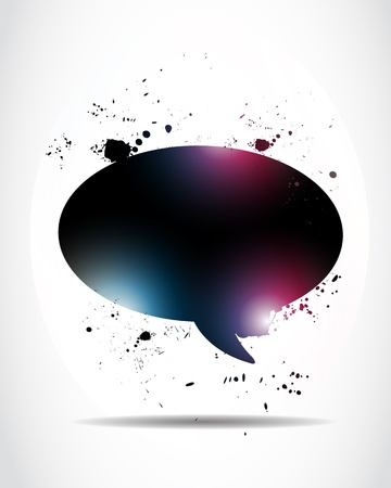 Abstract glowing speech bubble Stock Vector - 15600763