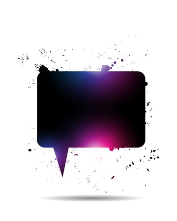 Abstract Shiny Speech Bubble Vector