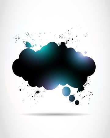 Abstract Shiny Speech Cloud Vector