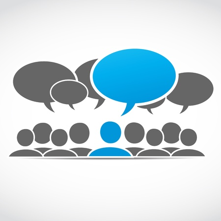 discussion forum: social media group Illustration