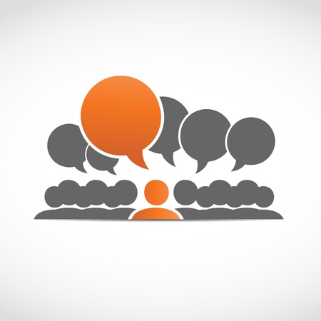 discussion forum: social connections Illustration