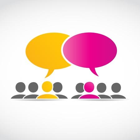 social media conversations Stock Vector - 15600614