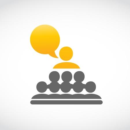 conferencia de negocios, presentación Ilustración de vector