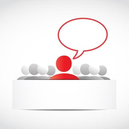 Business Team Speech Bubble Stock Vector - 15600626