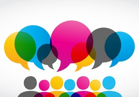 クライアント: カラフルな社会的ネットワークの概念  イラスト・ベクター素材