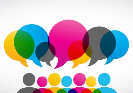 social networking: colorful concetto di social network Vettoriali
