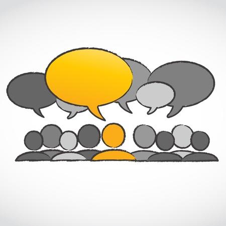 stranger: standing out concept dialog bubbles