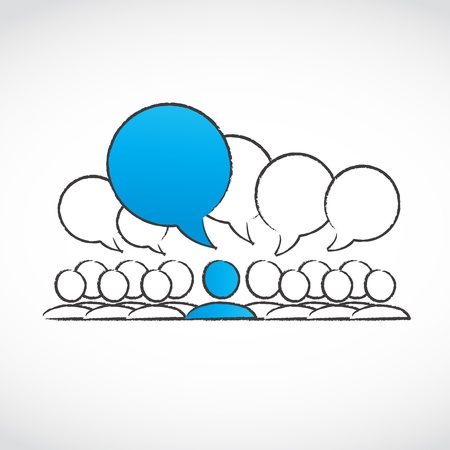 social gathering: social conversation group Illustration