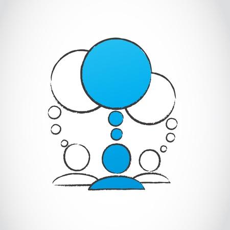 social media people Stock Vector - 15600492