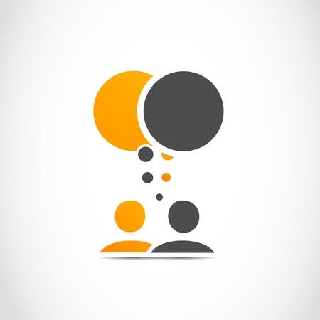 conversatie mensen Vector Illustratie