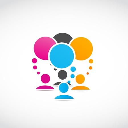 business discussion: personas que se conectan Vectores