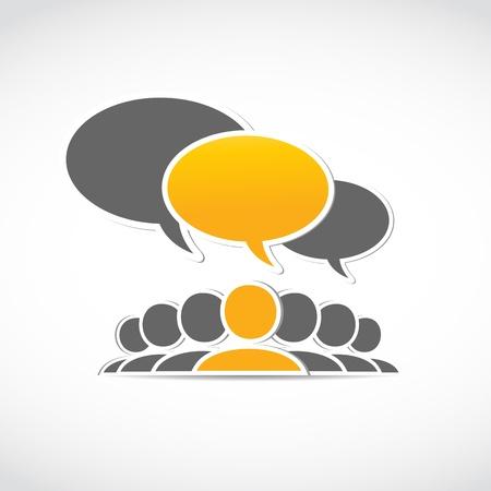 conversations: social media concept
