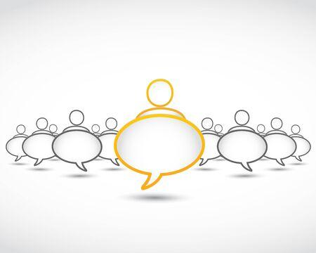 stranger: business concept dialog bubbles