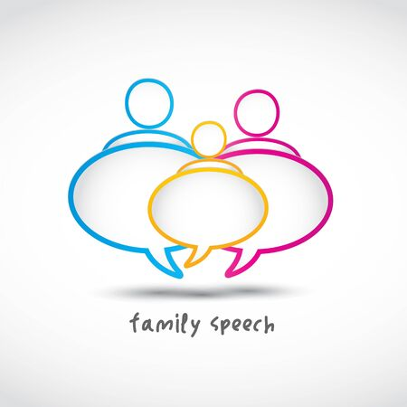 family speech bubbles Vector