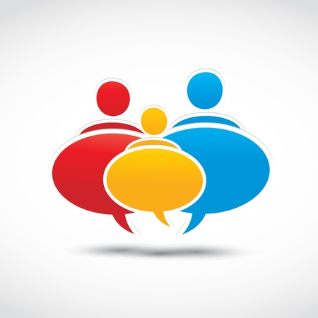 forums: colorful family dialog balloons