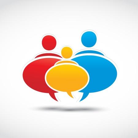 dialogo: coloridos globos de diálogo de la familia Vectores