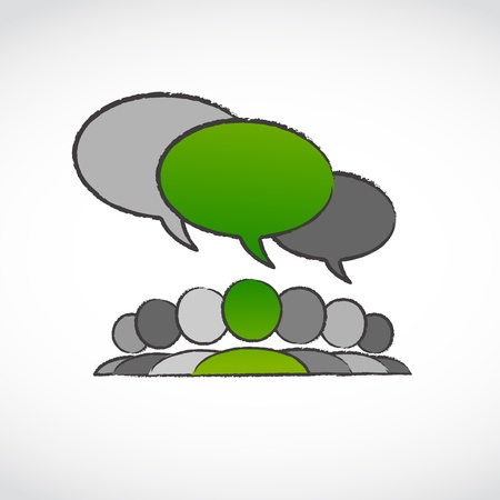 environment volunteer speech bubble Vector