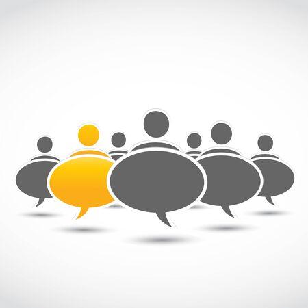 deviant: standing out business dialog bubbles