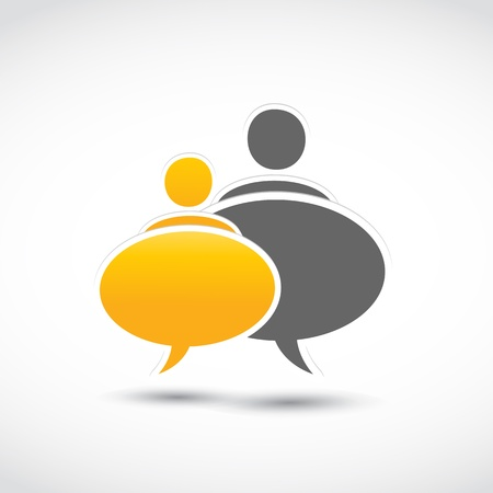 talkative: speech people balloons