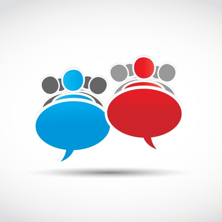business teams speech concept Stock Vector - 15629038