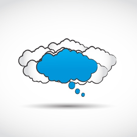 abstract speech cloud concept Vector