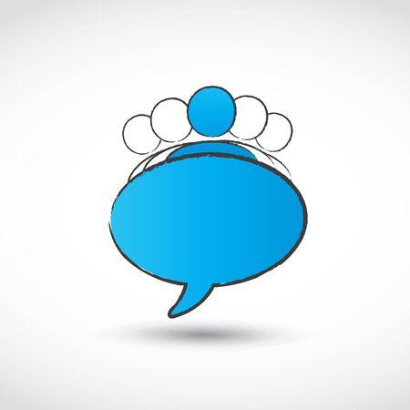 teamleider: commerciële teamleider toespraak Stock Illustratie