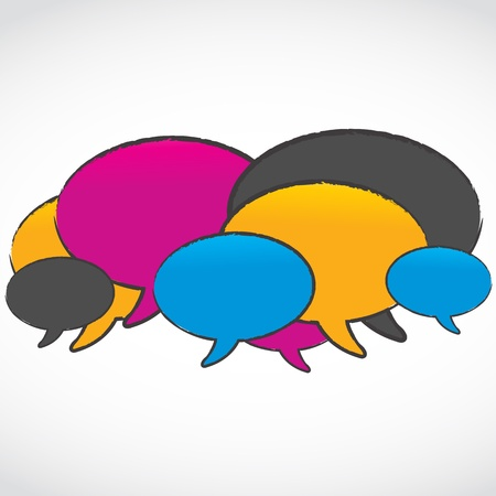 abstract colorful speech bubbles Stock Vector - 15629023