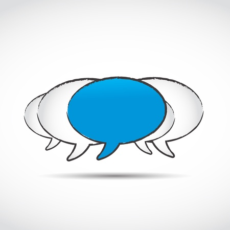 Social networking speech bubbles Vector