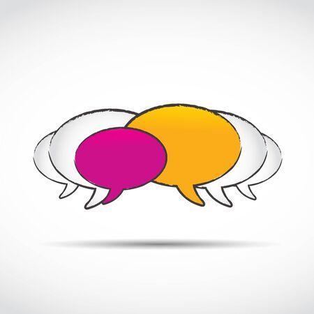 social media chat balloons Stock Vector - 15629117