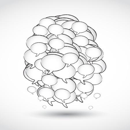 t�moignages: concept de r�seau social Illustration