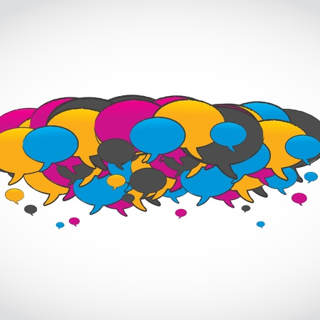 colorful social media speech bubbles Vector
