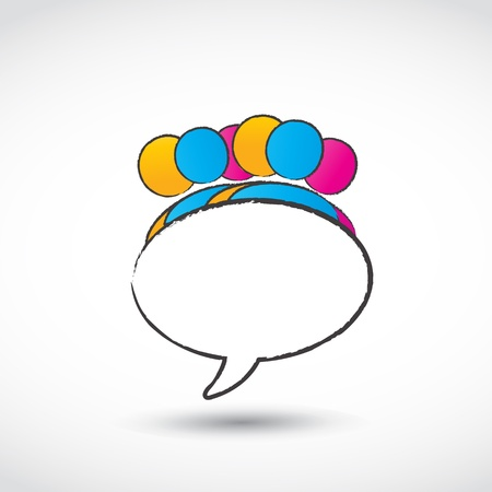 social media speech bubble Vector