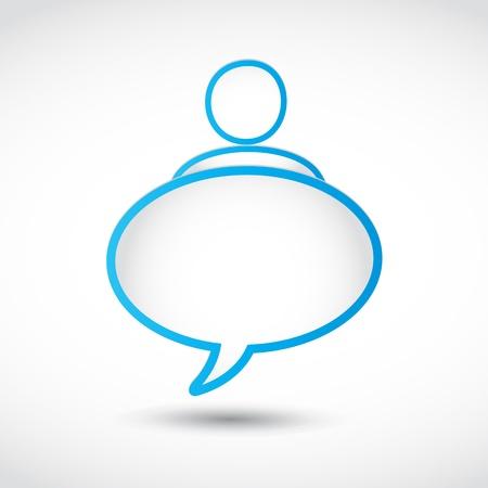 social gathering: speech bubble man