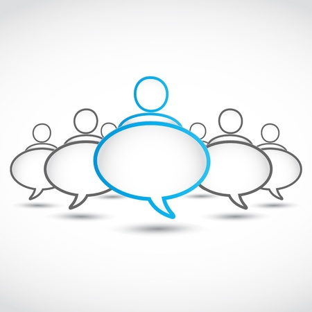 communicating: social media speech bubbles Illustration