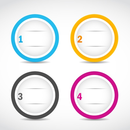 abstract option circles Vector