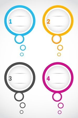 option bubbles Vector