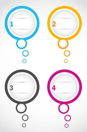 compare: option bubbles Illustration