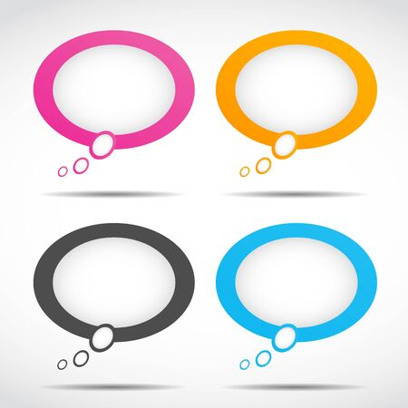 colorful speech bubbles Stock Vector - 15745892