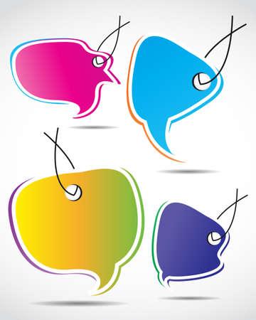 chat balloon: speech bubble set