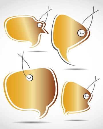golden speech bubbles Vector